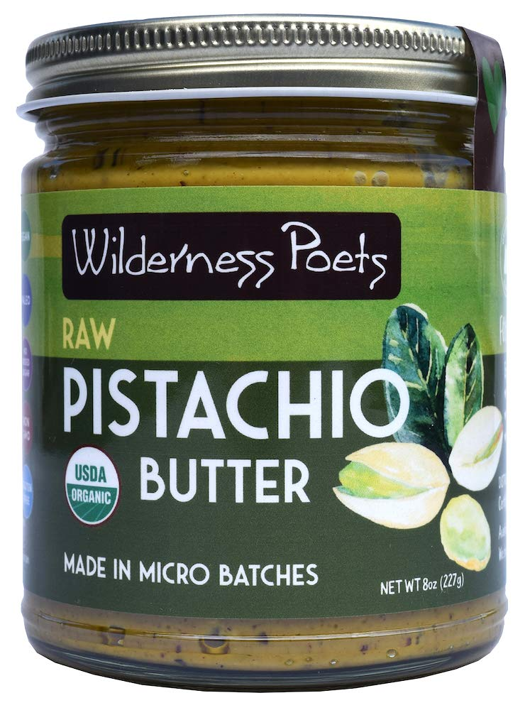 Wilderness Poets Raw Pistachio Butter 8 Ounce Half Pound